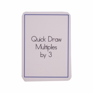 Quick Draw Multiples (by 3) Card Deck