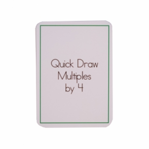 Quick Draw Multiples (by 4) Card Deck
