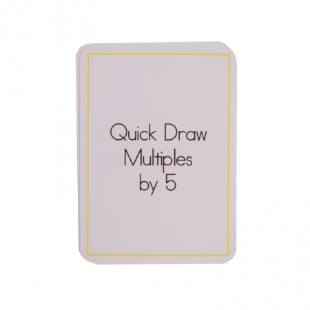 Quick Draw Multiples (by 5) Card Deck