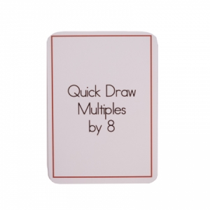 Quick Draw Multiples (by 8) Card Deck